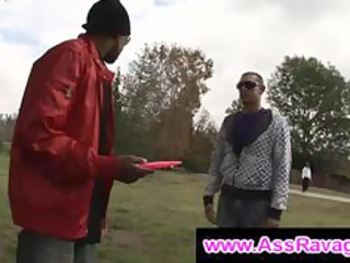 black thug meets gay guy outdoor into the park