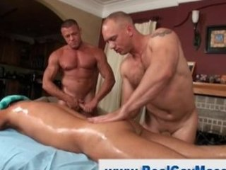 straight boy gives into to oiled up gay masseuse