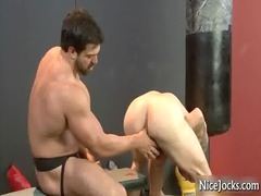 awesome jock obtains assfucked at gym gay fuck