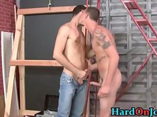 these boys are slutty at the job, gay part2