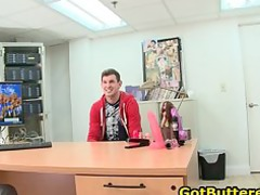 man acquires his anal buttered in bureau part6