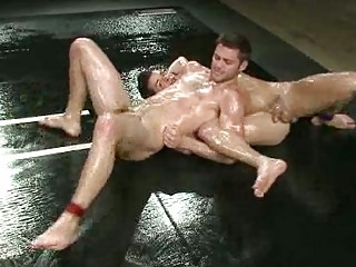 dirty gay studs inside horny dominative wrestle
