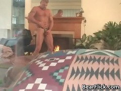 gay bear in leather chaps taking kinky gay porno