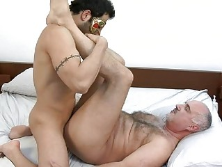 masked and tattooed gay hunk takes rammed uneasy