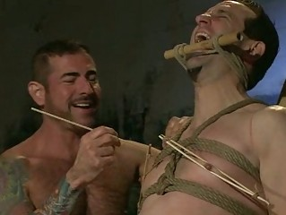 handsome gay guy had nipple tortured