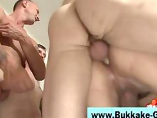 gay bukkake loving guys group cock sucking bottom