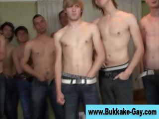 gay bukkake guy at lick off celebration