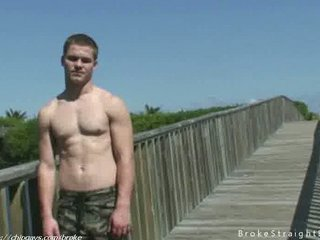 awesome muscular gay inside public