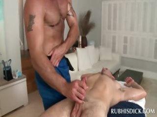 gay masseur obtaining his pierced shaft deep