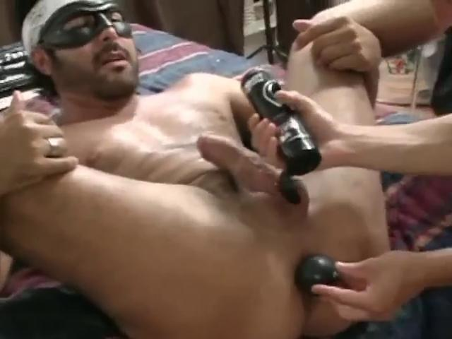 masked hunky gay obtains his strong anal lengthy
