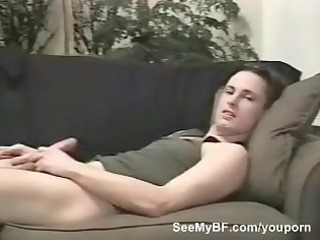 gay inexperienced dude on armchair