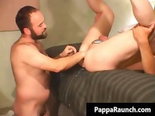 nasty gay man inserts huge vibrator part4