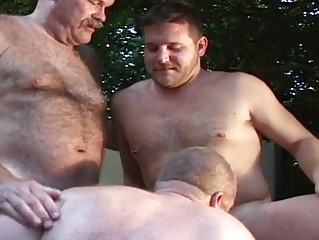 triple old boys have had super gay group fuck