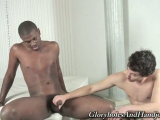 slutty dark gay hunk teasing horny handjob from