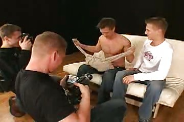 gay studs own showed inside the television studio