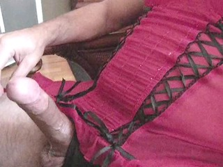 jerkin off - into beautiful panties