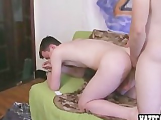 straight guy has to do gay fuck for the frat