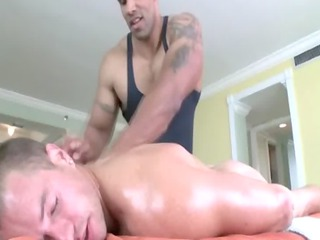 massage is ain even done and his cock is inside