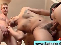 bukkake loving twink licks dicks