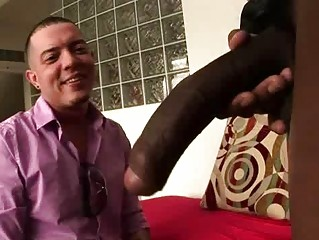 huge cock gay stud acquires a fist and fellatio