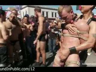 bound gays punished inside the streets at gay