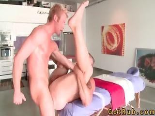 blond sweetie copulates his massage pro gay sex
