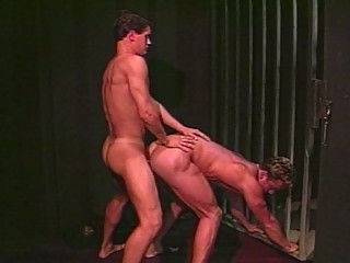 awesome tough gay copulate inside the jail