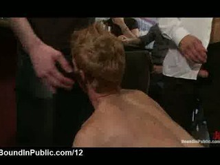 tied up gay sucks the floor shaved