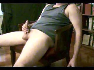 jerking off and a really huge sperm
