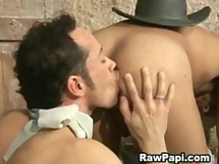 horny gay ethnic butthole drill with cumshots