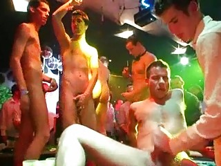 horny gay stud gathering with bunch  fuck