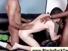 twink acquires mixed white cream after being