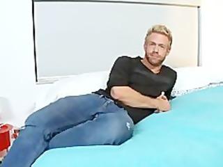 gay touching a gigantic black libido