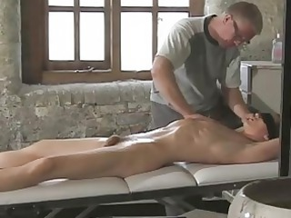 awesome looking gay boy gets tied during  daddy