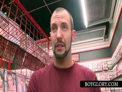 straight man tricked inside gay bj on gloryhole