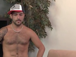 str8 bushy latina hunk 1st hour gay sex.