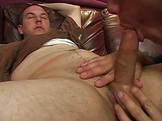 fat gay hunk had his cock jacked and sucked