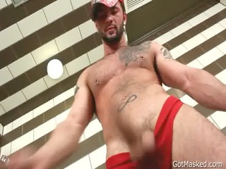 fucked hunk stuffing his anal with dildo gay fuck