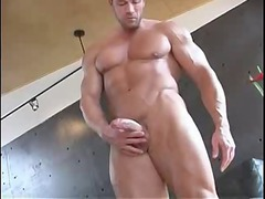 wonderful muscle plays with his libido