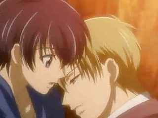sleeping anime gay guy romanced under a tree