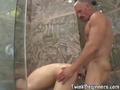 2 awesome fuckers pushing dildo and drilling