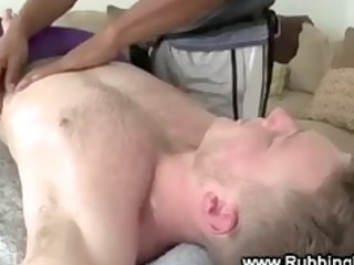 slutty dark goes under the towel of a stud gay