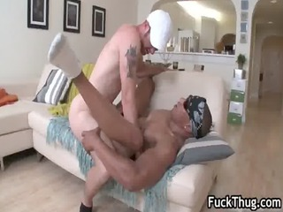thug rides colorless arse enjoy a pro gay video