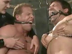 bound high a redhead gay gets spanked pinched and