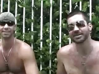 handsome gay hunks having insane fuck outside