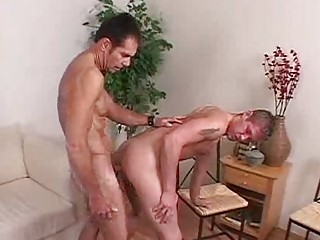 gay bottom takes drilled by a giant dick