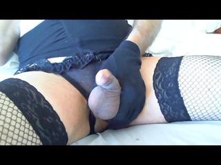 angelatv - creamy cumshot in split lingerie