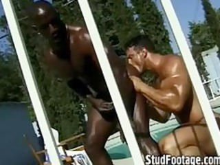 watch guys piercing in the swimming swimming-pool
