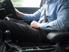 car wank (with sperm at home)
