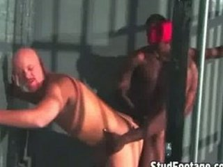 mixed gay fuck into a prison cell